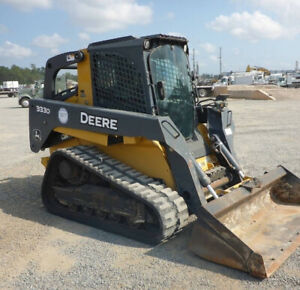 2012 John Deere 333d Track Skid Steer Loader W Cab 2spd Joysticks High
