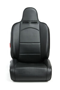 Cipher Auto Suspension Seats black Leatherette W Black Piping Pair