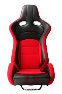 Cipher Auto Vp 8 Racing Seats red W Black Carbon Pu Pair