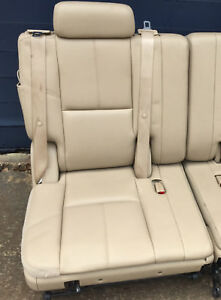 07 14 Tahoe 3rd Third Row Seat Tan Beige Leather Yukon Suburban Denali 2007 2014