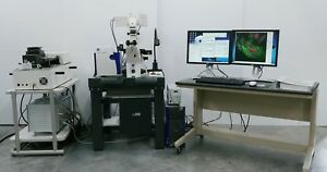 Zeiss Microscope Lsm 510 Meta Confocal With Axiovert 200