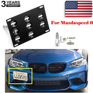 Tow Hook License Plate Bumper Mount Bracket Relocator Kit For Mazdaspeed 6 Usa