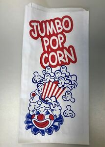Popcorn Bags Paper 6 X 75 X 9 Red And Blue Clown Design closeout Price