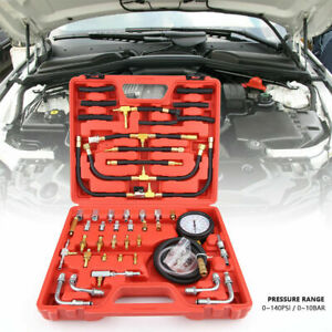 Newest Fuel Injection Pump Pressure Tester Manometer Gauge Test Kit 0 140 Psi Us