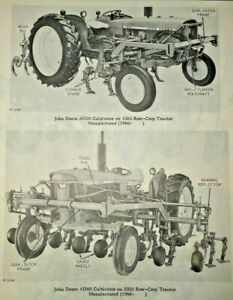 John Deere At20 To Au40 Cultivator Parts Catalog fits 1020 To 4020 Tractors