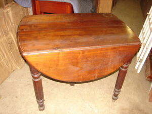 Late 1800 S Antique Walnut Dropleaf 5 Leg Kitchen Table W 3 Extension Boards