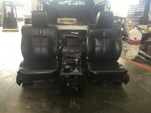 Lincoln Lt Truck Front Rear Seat Set Black Leather Heated 06 07 08
