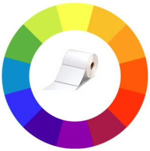 Colored 20 Rolls 4x3 Direct Thermal Labels Zebra Compatible Perforated 500 rl