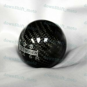 Mugen Real Carbon Fiber 6 Speed Shift Knob For Honda Cr Z Civic Accord S2000 Fa5