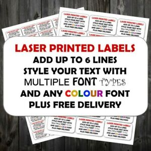 Personalised Sticky Return Address Mini Or Large Add Text Colour Labels