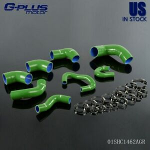 For Mitsubishi Lancer Evo 7 8 9 4g63 Ct9a Silicone Intercooler Pipe Hose Green