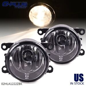 Pair For 2012 2014 Ford Focus Clear Lens Front Bumper Fog Lights Lamps W Bulbs
