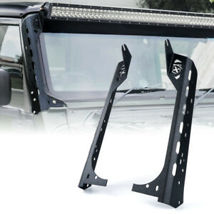 Front Windshield 50 Light Bar Mounting Brackets For Jeep Wrangler Jk 1997 2006