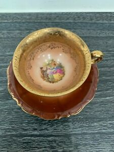 Vintage Bavaria Waldershof Germany Tea Cup Brown