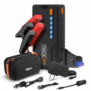 Tacklife T6 Car Jump Starter 600a Peak 12v Auto Battery Jumper up To 6 5l Gas