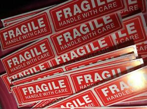 40 Fragile Sticker 1 X 3 Fragile Handle With Care Stickers Fast Usps Shipping
