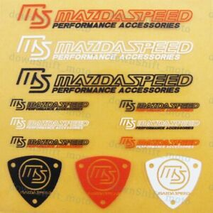 12pcs Set Mazdaspeed Reflective Car Window Vinyl Decal Sticker For Mazda