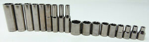 Craftsman Socket Lot Of 18 Deep Shallow G2 Sae Sockets Used Great Cond