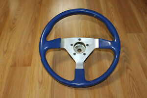 Blue Grant Racing Steering Wheel With Mount And Dust Cover Very Nice