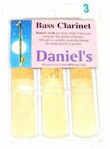 Daniel's Bass Clarinet Reed 3 Pack