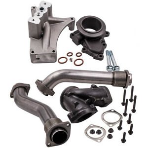 For Ford 7 3l F350 F450 1999 5 2003 Turbo Pedestal Exhaust Housing Up Pipe Kit