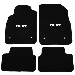 For 08 16 Chevrolet Cruz Floor Mats Carpet Front Rear Nylon Black W Cruze