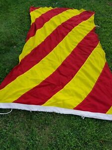 Vintage Nautical Marine Project Hope Flag Maritime Banner Red Yellow Y 6