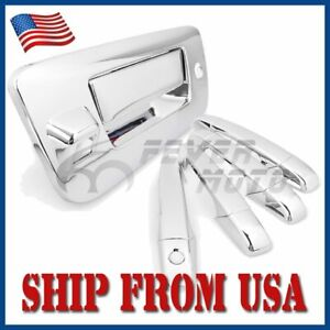 Us Chrome Side Door Tailgate Handle Cover Set For 2007 2013 Chevy Silverado Fm