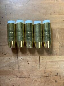 5 Pc Lot Bernard Style 4392 Mig Welding Gun Torch Gas Nozzle Tip Brass 1 2 Nos