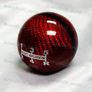 5 Speed Mugen Carbon Jdm Style Shift Knob For Honda Rsx Civic Type R S2000 Red