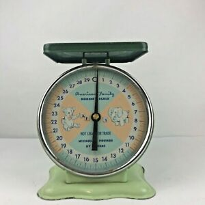 American Family Vintage Baby Nursery Scale Green Collectible