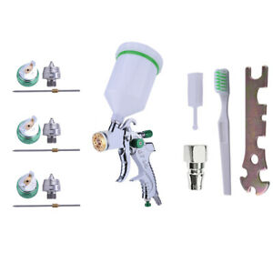 Hvlp Auto Paint Air Spray Gun Kit Gravity Feed Car Primer 1 4mm 2 0mm Nozzle