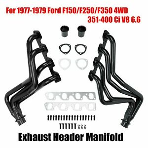 For 1977 1979 Ford F150 f250 f350 4wd 351 400 Ci V8 6 6 Exhaust Header Manifold
