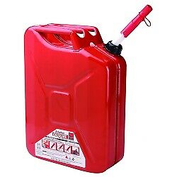 Midwest Can 5800 5 Gallon Metal Auto Shutoff Jerry Can