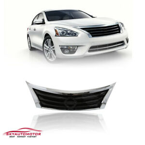 Fits For 2013 2014 2015 Nissan Altima Front Upper Grille Chrome Grill