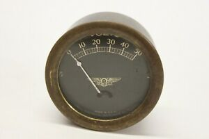 Original 1920 s 1930 s Jewell Brass Volt Meter Gauge Car Truck Boat Chevy Ford