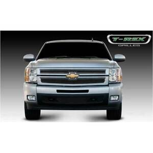 T rex Black Upper Class 2pc Mesh Grille For Chevrolet Silverado 1500 07 13