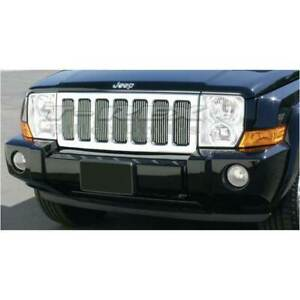 T Rex Vertical Billet Series Grille Insert For Jeep Commander 06 10