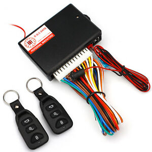 Car Remote Central Door Lock Locking Keyless Entry System W 2 Remote Controllers