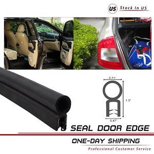 Car Rubber Seal Weatherstrip Edge Trim Door Protector Bulb Lock Pinch Weld 18ft