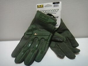 Mechanix Wear M pact Impact Protection Padded Palm Gloves Green Size Lg