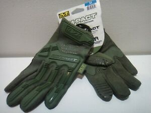 Mechanix Wear M pact Impact Protection Padded Palm Gloves Green Size Medium