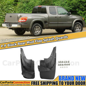 Rear Mud Flaps Splash Guards For Toyota Tundra 2000 2006 Extended Cab Mudguard