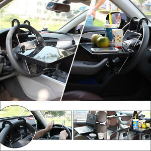 Universal Car Seat Back Table Laptop Food Drink Desk Cup Tray Holder New