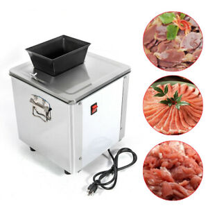 3 5mm Electric Meat Slicer Machine Stainless Steel Auto Meat Cuber 550w New Us