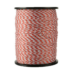 Electric Fence Poly Wire 2mm Red White Polywire With Steel For Horse Sheep