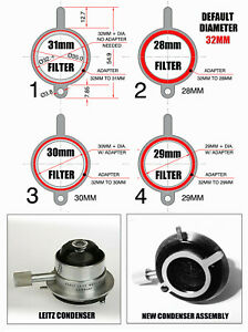 Leitz Microscope Retrofit To Receive 28mm 29mm 30mm 31mm 32mm Filters