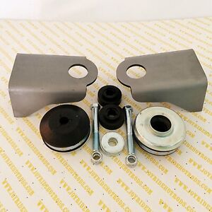 Ford Flathead V8 Motor Mount Kit Weld in Platforms With donut Style Mounts