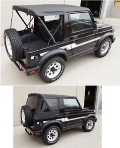 Soft Top Tint Windows Black Top Has Zip Out Windows 86 1994 For Suzuki Samurai