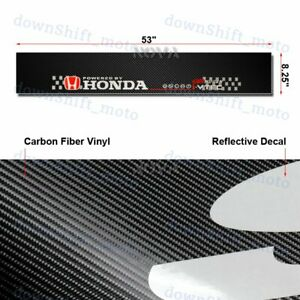Car Window Windshield Carbon Fiber Vinyl Banner For Honda 53 Logo Decal Sticker